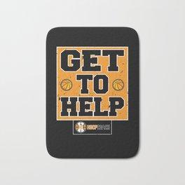 Get To Help Basketball Hoop Coach Bath Mat