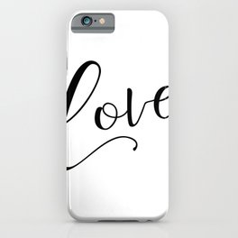 Love in black and white iPhone Case