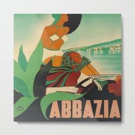 Abbazia, Italy Vintage Travel Poster Metal Print