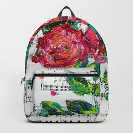Melody - Floral - Piano notes Backpack