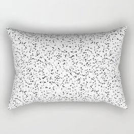Speckles I: Double Black on White Rectangular Pillow