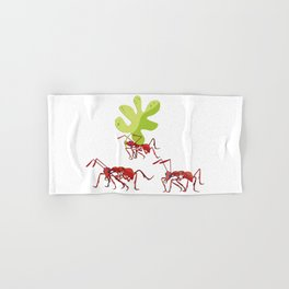 Red ants Hand & Bath Towel