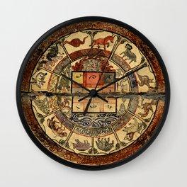 Vintage Constellation Chart 1549 Wall Clock
