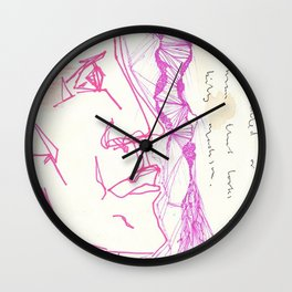 pink papi and your boy has a jawline for days Wall Clock