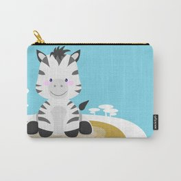 Zebra in the savannah Carry-All Pouch
