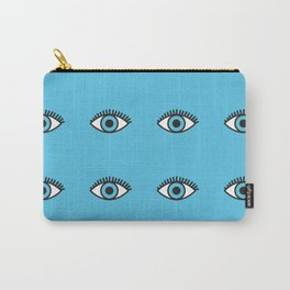 Blue Evil Eyes Carry-All Pouch