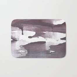 Gray claret abstract Bath Mat