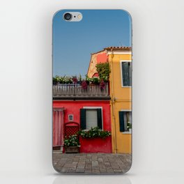 Colourful Neighbours, Burano Italy iPhone Skin
