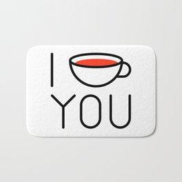 I Coffee You - Love, Coffeeholic Bath Mat