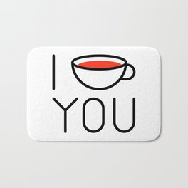 I Coffee You - Love, Coffeeholic Bath Mat