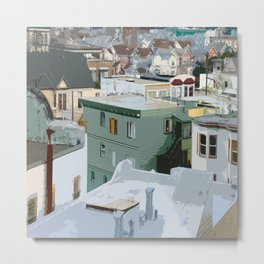San Francisco Houses Metal Print