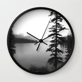 Maligne Lake Alberta Wall Clock