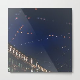 christmas lights ...  Metal Print