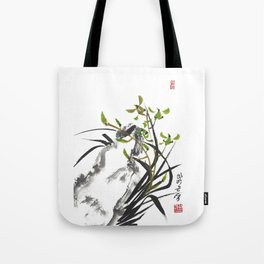 Green Orchid One Tote Bag