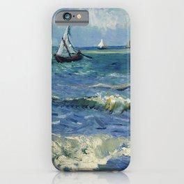 Vincent Van Gogh - Seascape at Saintes-Maries iPhone Case