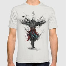 assassins creed Mens Fitted Tee Silver SMALL