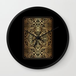 Ornament Gold Playing Card Wall Clock
