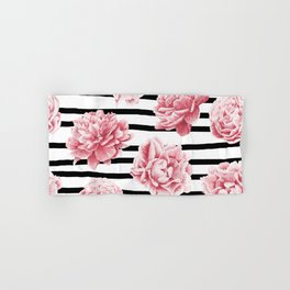 Simply Drawn Stripes and Roses Hand & Bath Towel