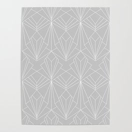 Art Deco on Grey Poster