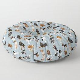 Coonhounds on Blue Floor Pillow