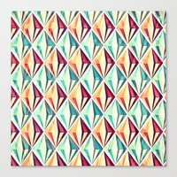 diamonds Canvas Prints featuring Diamonds by VessDSign