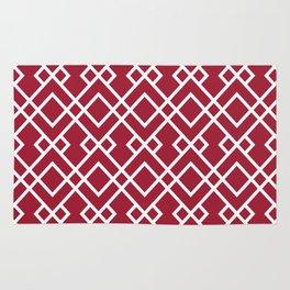 University of Alabama colors trendy patterns minimal pattern college football sports Rug