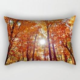 Sunlight Filtered By Trees Rectangular Pillow