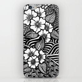 flowery zentangles iPhone Skin