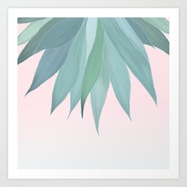 Delicate Agave Fringe Illustration Art Print