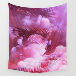 Pink Palms Wall Tapestry