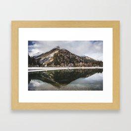 Kranjska Gora, Slovenia. || Lake. || Reflection of a Mountain. || Symmetry in Nature. Framed Art Print