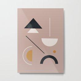 Minimal Geometric Art 12 Metal Print