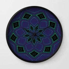 Shipibo Inspired Journey Tapestry Wall Clock