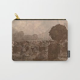 Irish Graveyard | Sepia Graveyard | Halloween Landscape Carry-All Pouch