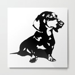 "DACHSHUND ""DOXIE""  DOG Metal Print"