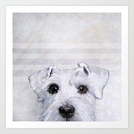 Schnauzer original Dog original painting print Art Print