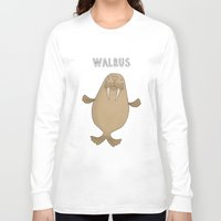 walrus Long Sleeve T-shirts featuring Walrus by Carl Batterbee Illustration