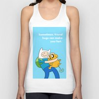 finn and jake Tank Tops featuring Finn and Jake Fart  by Richtoon