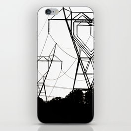 I heart your electricity. iPhone Skin