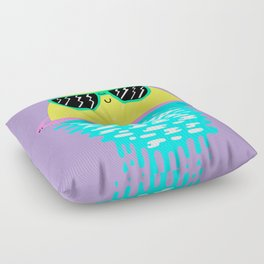 Happy Sunset Plums Floor Pillow
