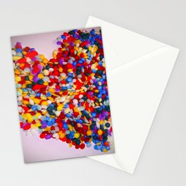 Heart of Rainbow Sprinkles Stationery Cards