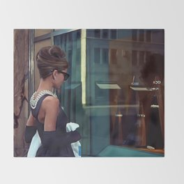 Audrey Hepburn #2 @ Breakfast at Tiffany's Throw Blanket