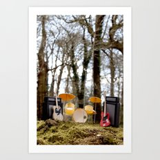 If a band plays in the forest ...... Art Print