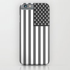 National flag of the USA, B&W version iPhone 6 Slim Case