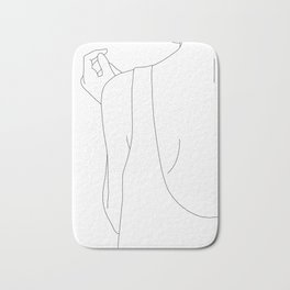 Fashion illustration line drawing - Carl Bath Mat
