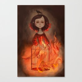 Phoenix Girl Canvas Print