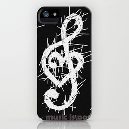 music is passion iPhone Case
