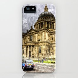 St Paul's Cathedral London Sketch iPhone Case