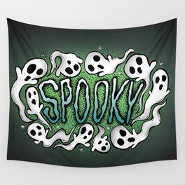 Spooky Ghosts for Halloween Wall Tapestry