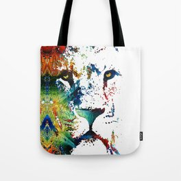 Colorful Lion Art By Sharon Cummings Tote Bag